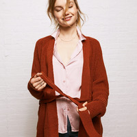 Don't Ask Why Belted Cardigan, Rust