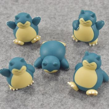 Original Snorlax with marks on the body anime cartoon action & toy figures Collection model toy KEN HU STORE esKawaii Pokemon go  AT_89_9
