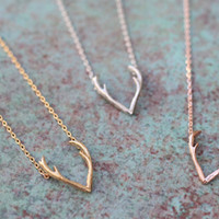 Dainty Buck Antler Neckace from Tinley Rose Accessories