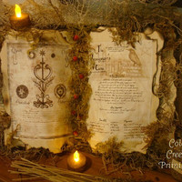 Witch's Spell Book  Primitive Halloween Decor