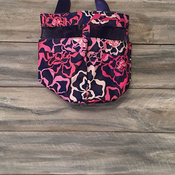 Vera Bradley Monogrammed Shower Caddy, shower tote, dorm caddy, mesh bathroom organizer