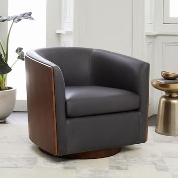 Luther Leather Swivel Chair