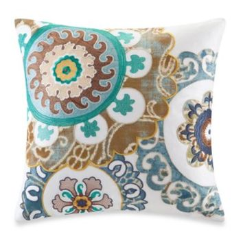 Harbor House™ Belcourt 18-Inch Square Toss Pillow in White