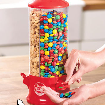 3-Way Compartment Candy or Dry Food Dispenser