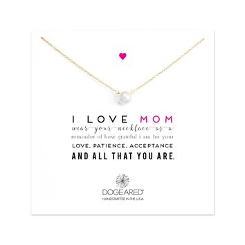 I Love Mom pearl Necklace