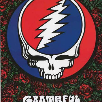 Grateful Dead Steal Your Face Roses Poster 24x36