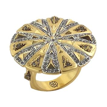 House of Harlow 1960 Jewelry Ornamental Medallion Ring