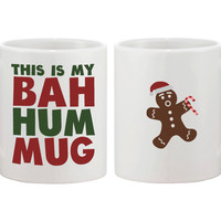 This Is My Bah Hum Mug Cute Christmas Gift Funny Coffee Mugs for Holidays
