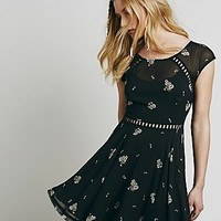 Free People Womens Girl Code Printed Dress