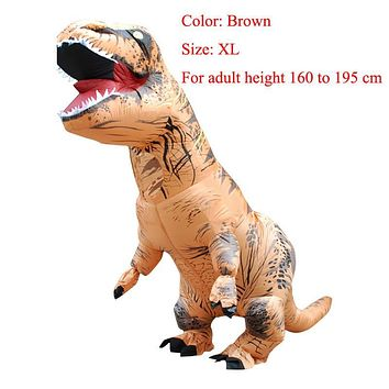 Cool T-REX INFLATABLE  Dinosaur Costume Fancy Dress Cosplay Animal Jumpsuit Halloween Costumes of Men CarnivalAT_93_12
