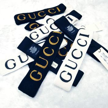 GUCCI Sport Crochet Knit Knitted Headwrap Headband Warmer Head Hair Band G