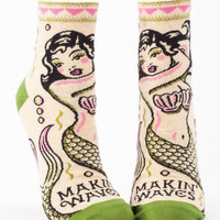 Makin' Waves Women's Mermaid Ankle Socks