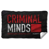 Criminal Minds Crime Drama CBS TV Series BAU Quantico Logo Fleece Blanket