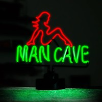 Man Cave Nude Girl Neon Sign