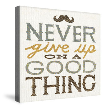 Never Give Up Canvas Wall Art