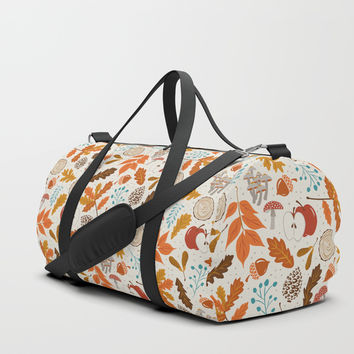 Autumn Woods Duffle Bag by Heather Dutton