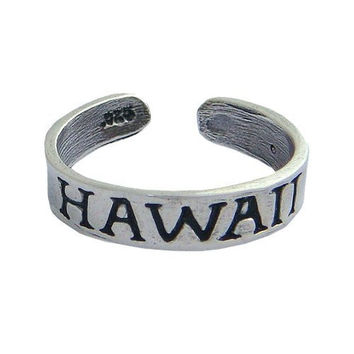 Hawaii Sterling Silver Hawaiian Toe Ring