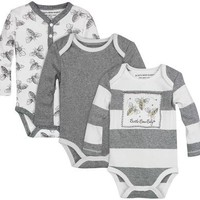 Burt's Bees Baby 3 Pack Watercolor Bodysuits (Baby) - Free Shipping