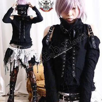 Robot BJD Visual Kei Goth Punk Mesh Muslin Top+Wrap  M