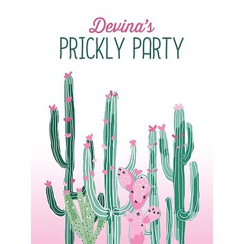 Cactus Prickly Birthday Party Theme Backdrop (Any Color) Background - C0257