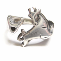 Sterling Silver Bull Brand Rancher Ring Size 8