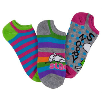 Peanuts - Snoopy Slacker Women's No-Show Socks 3-Pack