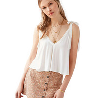 V Neck Tie Strap Cami Top