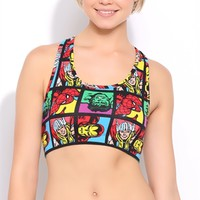 Marvel Characters Sports Bra