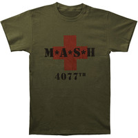 M*A*S*H Men's  MASH 4077th Slim Fit T-shirt Army