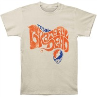 Grateful Dead Men's  The Grateful Dead T-shirt Tan