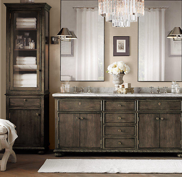 French Empire Tall Bath Cabinet From Restoration Hardware