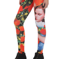 The Wizard Of Oz Dorothy Floral Leggings