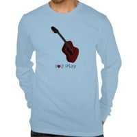 T-shirt with illustration of a acoustic guitar from Zazzle.com