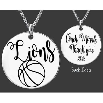 Basketball Coach Necklace | Personalized Coach Gift