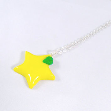 Kingdom Hearts Paopu Fruit Necklace, Cute, Kawaii :D