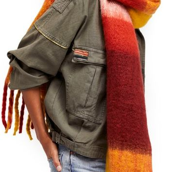 Free People Cameron Plaid Fringe Scarf | Nordstrom