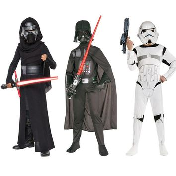 New Child Boy Deluxe Star Wars The Force Awakens Storm Troopers Cosplay Fancy Dress Kids Halloween Carnival Party Costume S M L