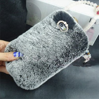 Luxurious Soft Rabbit Fur Case for iPhone 5+6