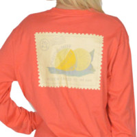 Southern Squeeze Long Sleeve Tee, Coral by Lauren James