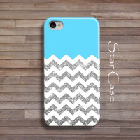 iPhone 5 Case, iPhone 4 Case, iPhone 4s Case, iPhone 5s Case Chevron Glitter Mint iPhone 4 5 Cover Geometric iPhone Hard Case Pretty Girly