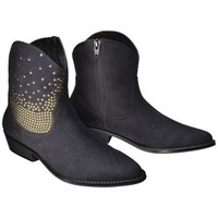 Women's Mossimo Supply Co. Kayde Studded Western Ankle Boot - Black
