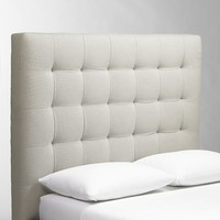 Tall Grid-Tufted Headboard