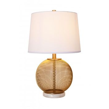 Cupcakes and Cashmere Seeded Glass Table Lamp