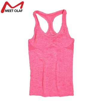 Women Casual Tank Tops Solid Elastic Breathable Fashion Comfortable Vest Fast Drying Tank Top Tees For Women Girl YL042