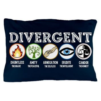 Divergent Symbols Blue Pillow Case