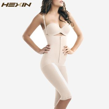 HEXIN Hot Shapers for Women Full Body Shaper Strappy High Waist Shaper Corset Zipper Waist Trainer with Tummy Trimmer Shaperwear