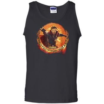 Marvel Infinity War Protect the Wizard Dr. Strange  Tank Top