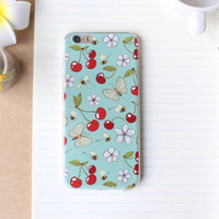 Retro Cherry Case Ultrathin Cover for iPhone 5 6 6s Plus