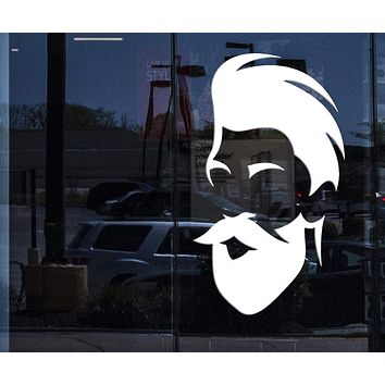 Window Decor for Business Wall Vinyl Decal barber Shop Salon Moustache Haircut Beards Stickers Unique Gift z4741w