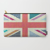 UK Beauty flag Carry-All Pouch by Sharon Turner | Society6